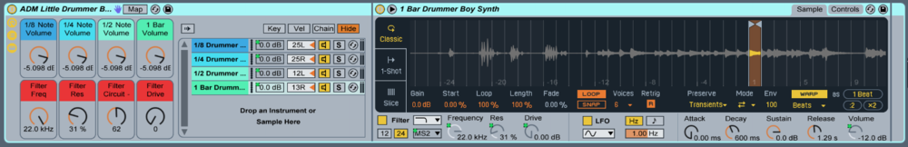 The Little Drummer Boy Ableton Live Instrument Collection!