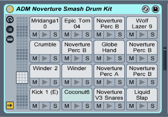 Drum Kit made from various Noverture Vol. 3 samples