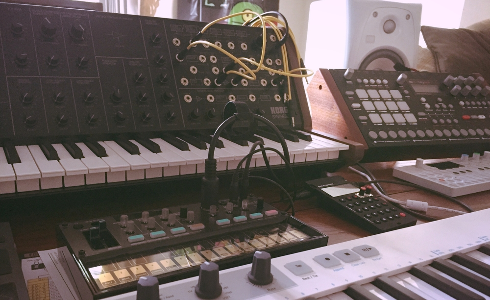 A few of the toys used to create the Peaceful Synths Ableton Live Pack.