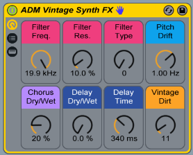 This Effect Rack allows you to add the sound of vintage synths to any sound you want!