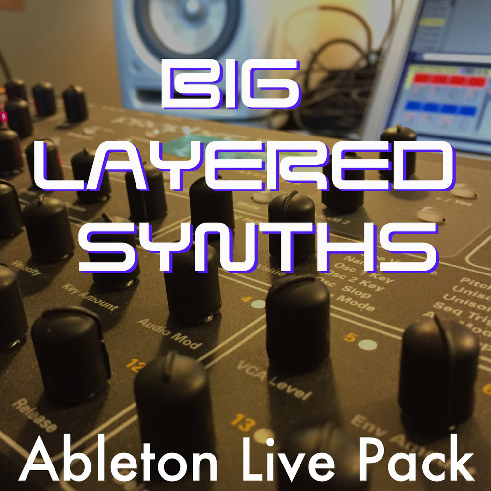 Big Layered Synths Ableton Live Pack When you need enormous synth sounds, this is the Pack for you! Huge multi-layered Ableton Live  Instrument Racks, made from the samples of the Prophet 08.