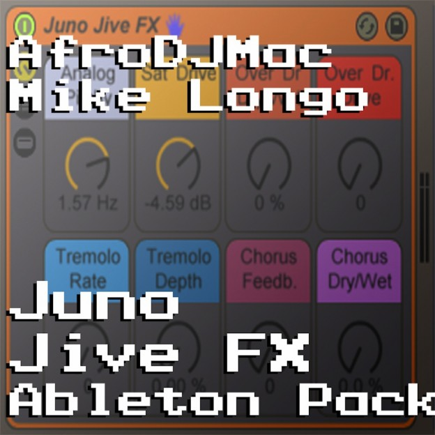 Juno Jive Ableton Live Audio FX Rack Emulate the warmth and character of vintage analog synths with this Ableton Live Audio Effect Rack. Features saturation, pitch drift, distortion, tremolo, and chorus.
