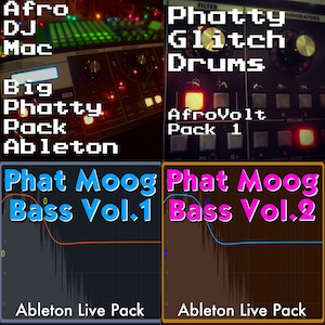 Moog Ableton Live Collection   This special package includes the Moog Big Phatty, Phatty Glitch Drums, and Phat Moog Bass Volume 1 and 2 Ableton Live Packs. Over 100 Ableton Live ready Instruments. Add a ton of analog Moog sounds to your Ableton Live productions!