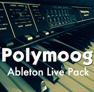 Polymoog Ableton Live Pack The classic sounds of the PolyMoog. 31 Ableton Live Instrument Racks made from samples of the classic Moog Polymoog analog synthesizer.