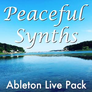 Peaceful Synths Ableton Live Pack   Get tons of mellow, chilled-out, synth sounds. 55 presets built from samples of hardware and virtual synths, programmed for relaxing and evolving sounds.