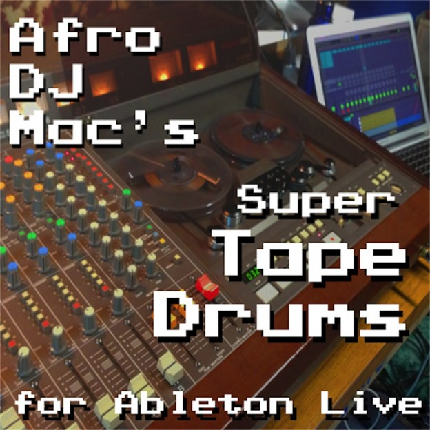 Super Tape Drums Ableton Live Pack   450 drum samples from a variety of sources, recorded directly to an 8-track reel to reel tape machine. Resampled and built into 30 Ableton Live Drum Racks.