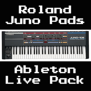 Roland Juno Pads Ableton Live Pack   20 Warm, analog, evolving pad Instrument Racks, sampled from the Roland Juno 106. Each Instrument has 55 Macro Controls for complete sound customization.