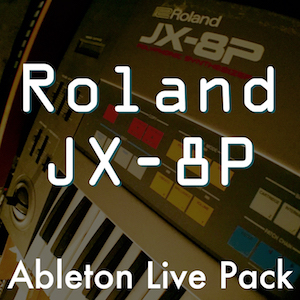 Roland JX-8P Ableton Live Pack   47 Instrument Racks made from samples of the Roland JX-8P analog synth. Customizable sounds with Macro controls and designed for expressive playing.