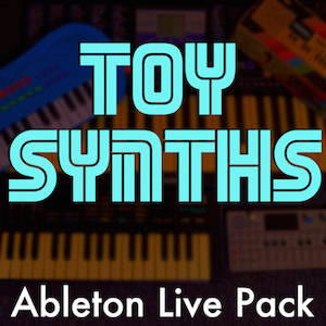 Toy Synths Ableton Live Pack   Like a time machine to your childhood! 112 Ableton Live Instrument Racks and 24 beats made from samples of various Yamaha and Casio toy keyboards.
