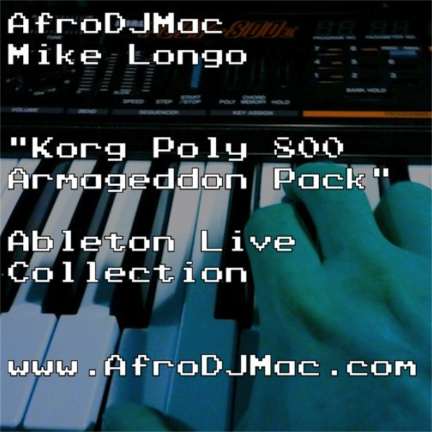 Korg Poly 800 Armageddon Ableton Live Pack   Epic, end of the world synthesizer sounds, inspired from Sci-Fi Films of the 80's. Features 40 Ableton Live Instrument Racks built from samples of the Korg Poly 800 synth.