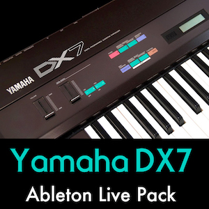 Yamaha DX7 Ableton Live Pack   The unmistakeable sound of the 1980's FM synthesis captured in 55 Ableton Live Instrument Racks. Classic Yamaha DX7 presets in your productions.