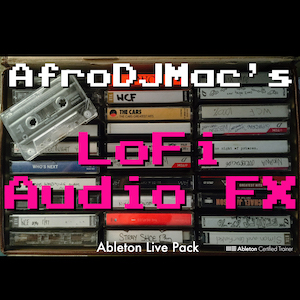 LoFi Audio Effects Ableton Live Pack   Emulate the character of vintage, analog, old, and even broken gear. Mimic tape noise, burnt circuits, telephones and more. Features 30 Audio Effect Racks.