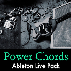 Power Chords Ableton Live Pack   Clean and distorted multi-sampled electric guitar power chords with just one note. Includes Amplifier, Cabinet, and Stomp Box Audio Effect Racks.