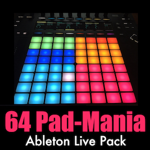 64 Pad-Mania Ableton Live Pack   Take advantage of the 64 pad layout of your favorite controller! These instruments have every sound you need for a complete performance .