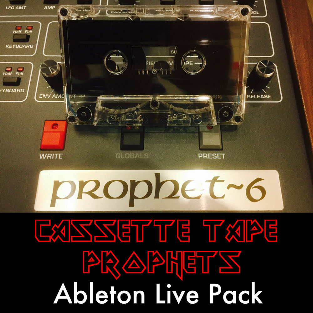 Cassette Tape Prophets Ableton Live Pack   Warm, analog synths from the Prophet 6 analog synthesizer run through the Elektron Analog Heat and recorded directly to a cassette tape. Beautifully Vintage!
