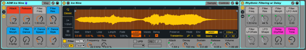 "This preset is called ""Ice-Nine,"" named after the material in Vonnegut's  Cat's Cradle , which could instantly freeze anything it touched. The Macro Controls allow for complete customization of the sound."
