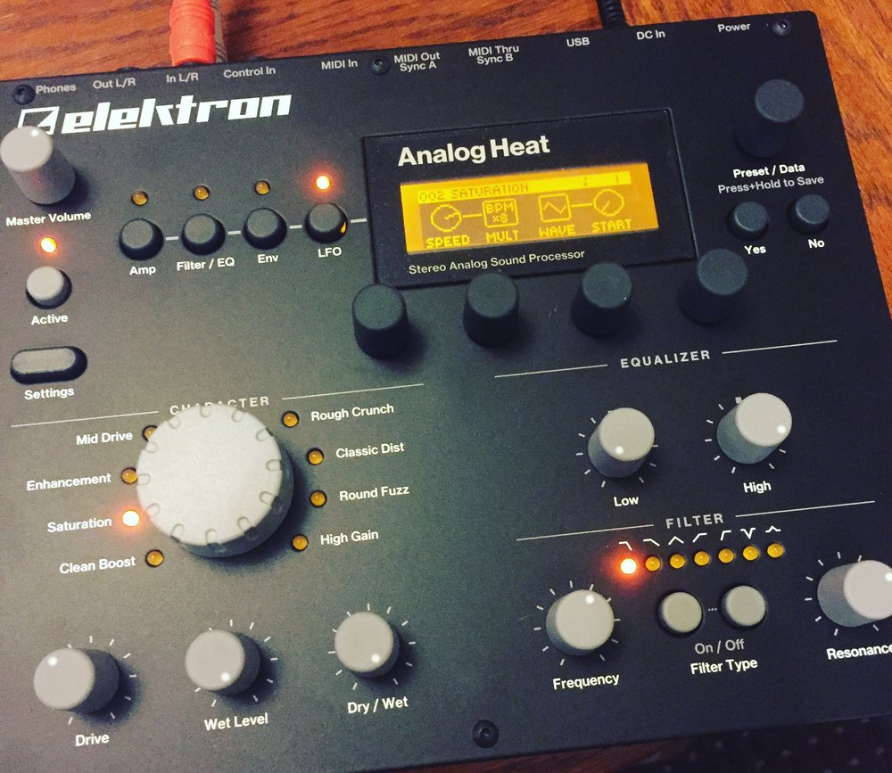 Once again, Elektron's Analog Heat manages to add the perfect amount of warmth, saturation, and compression