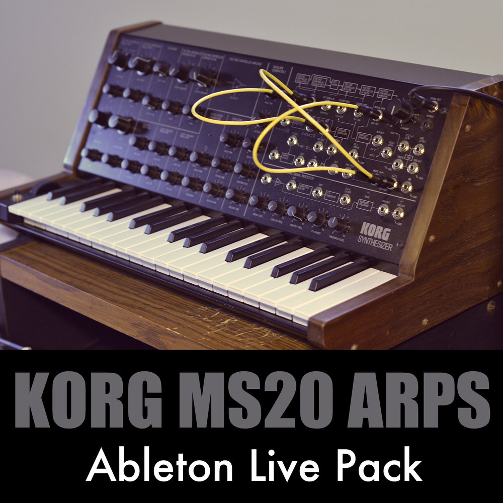 Korg MS20 Arps Ableton Live Pack   40 Ableton Live Arpeggiated Synthesizers built from samples of the Korg MS20 analog synth. Create exciting rhythmic melodies by just holding a few notes.