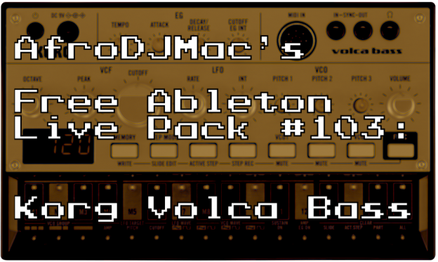 Korg Volca Bass: Free Ableton Live Pack #103 — Brian Funk