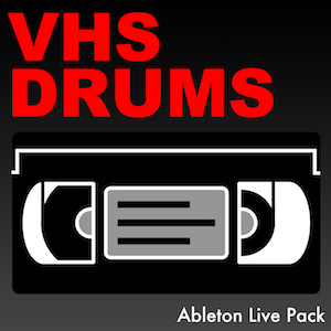 VHS DRUMS Ableton Live Pack   600 drum samples, recorded to VHS tapes and then back into Ableton Live. Each drum has the characteristic charm of old VHS movies. Contains 30 Ableton Live Drum Racks.