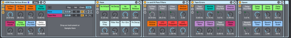 "Each HAZE preset has a wealth of Macro Controls to further ""haze-out"" your sounds."