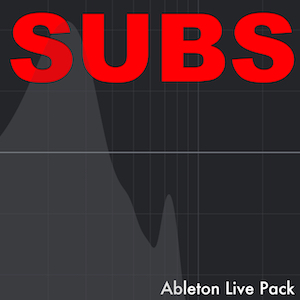 SUBS   Ableton Live Pack   Instruments designed for powerful low-end bass sounds. Built from samples of 30 analog and digital synths. 20 Instruments Racks and 2 Audio Effect Racks.