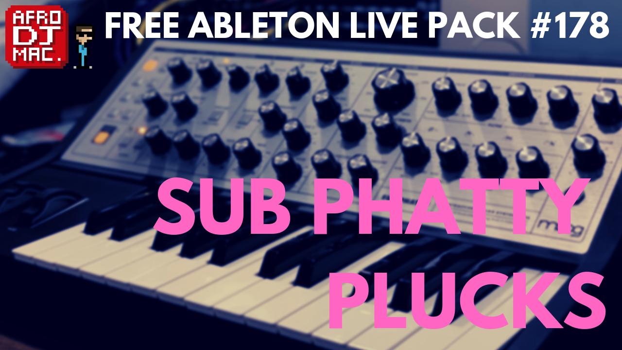 Moog Sub Phatty PLUCKS - Free Ableton Live Pack #178 — Brian Funk