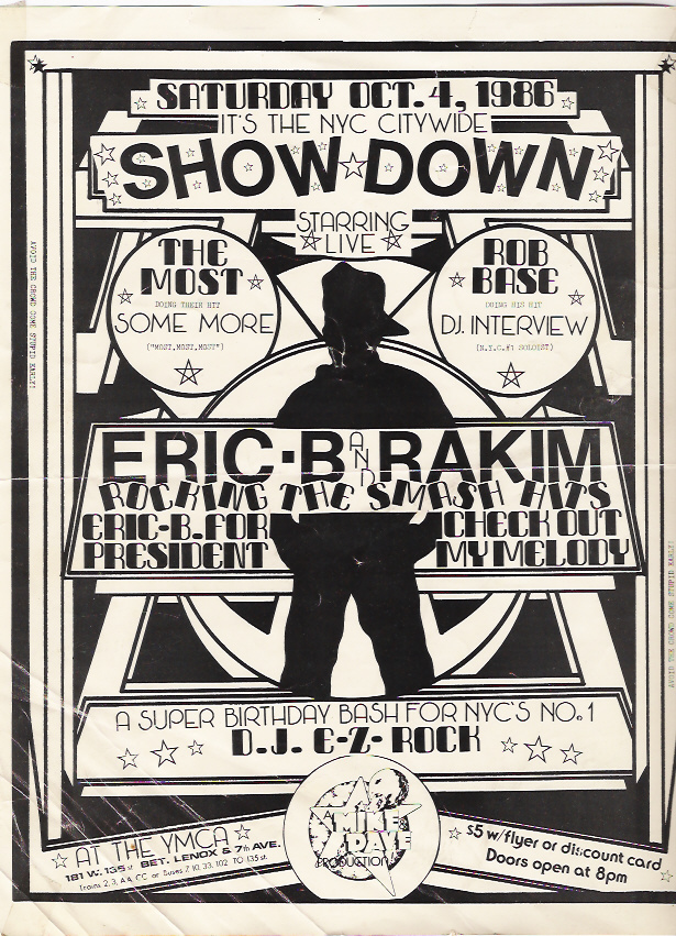 1986 Hip Hop Event Flyer