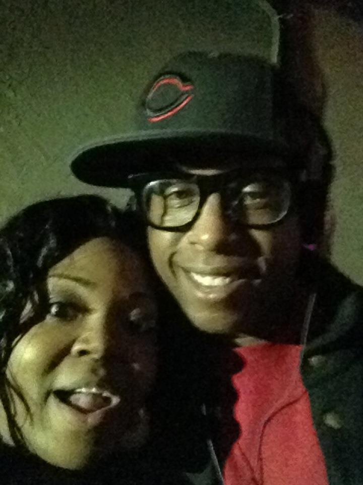 An awe-struck Achickwitbeatz meeting Talib Kweli (10/2011)