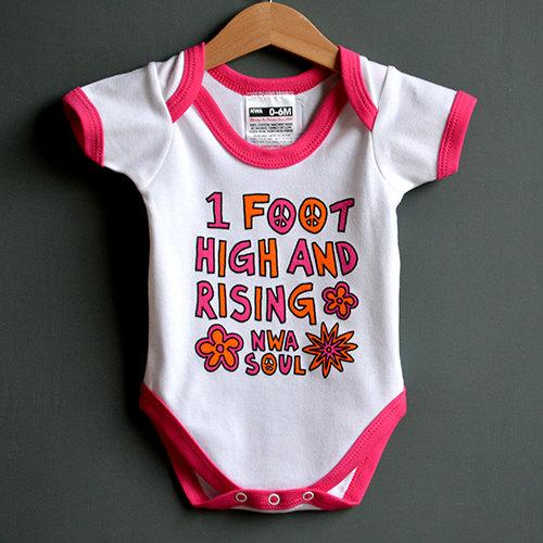 """""""One Foot High & Rising"""" Onesie"""