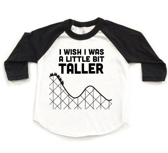 """""""I Wish I Was a Little Bit Taller"""" Kids Tee"""