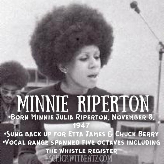 Minnie Riperton Women's History Month