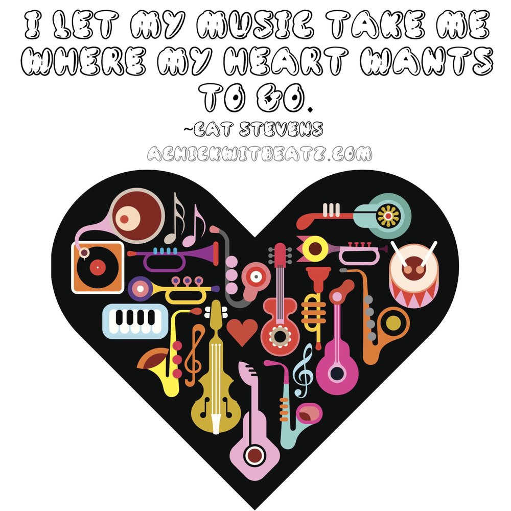 I let my music take me where my heart wants to go