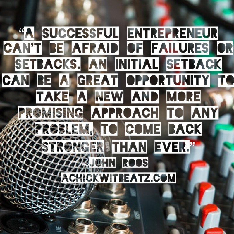 A successful entrepreneur can't be afraid of failures or setbacks. An initial setback can be a great opportunity to take a new and more promising approach to any problem, to come back stronger than ever.JPG