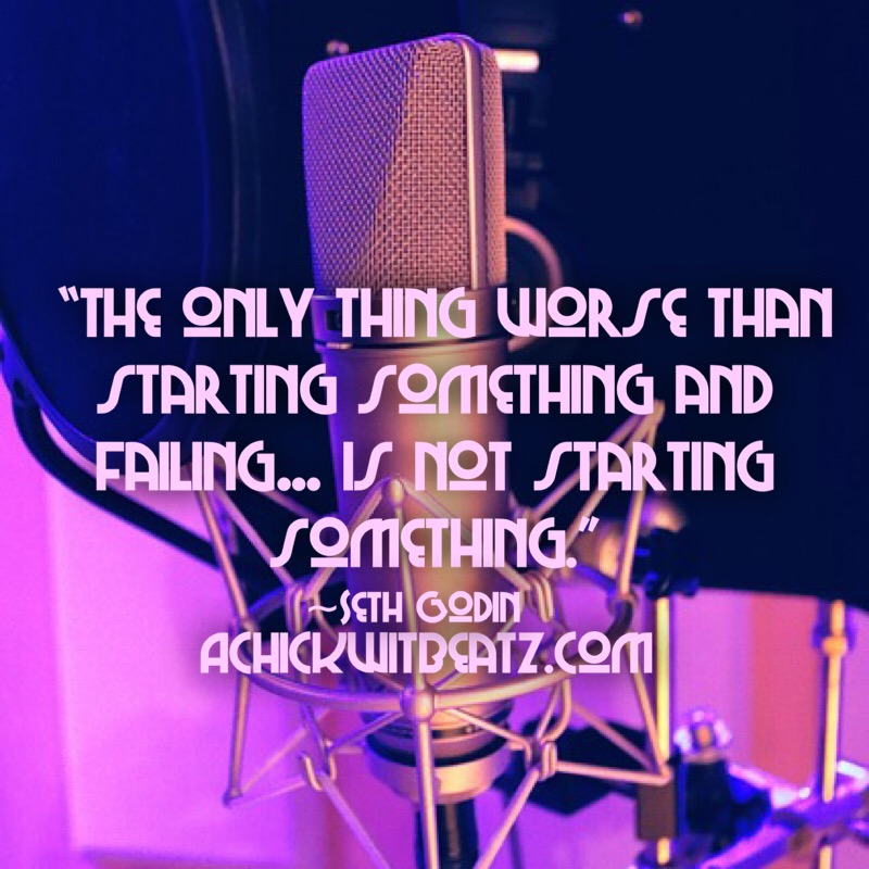 The only thing worse than starting something and failing...is not starting something.