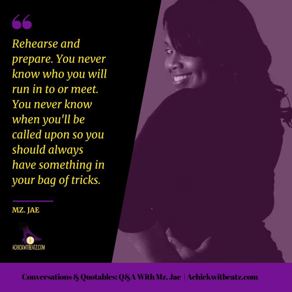 Conversations & Quotables: Q&A with Mz Jae