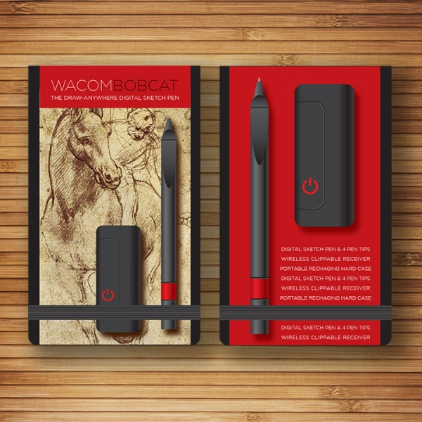 Wacom // Exploratory Work // Moleskin Sketchbook Packaging Design