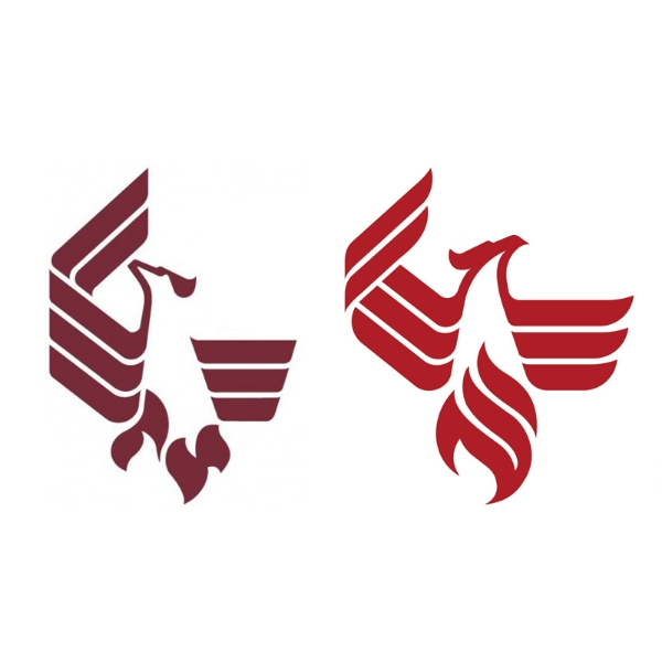 LEFT: Old Logo // RIGHT: the new University of Phoenix Logo