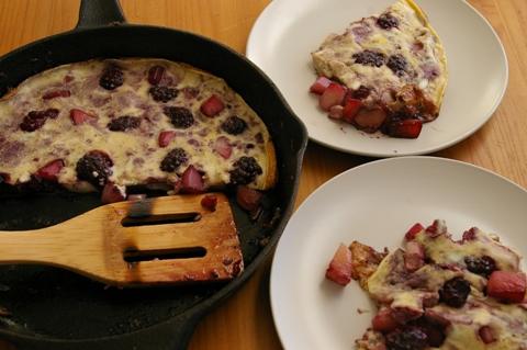 plated clafoutis