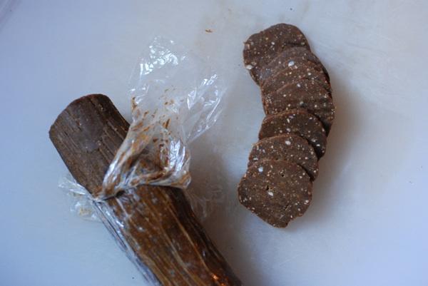 hazelnut molasses cookie dough