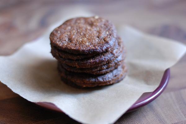 hazelnut molasses crisps