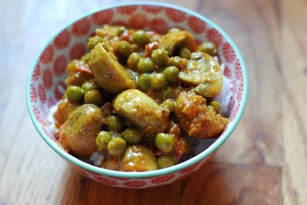 Mushroom Pea Curry 2