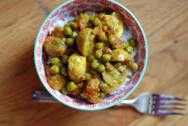 Mushroom Pea Curry