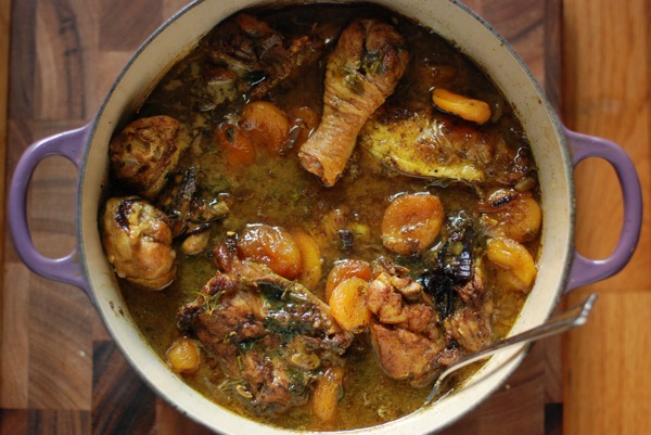 moroccan chicken with apricots01