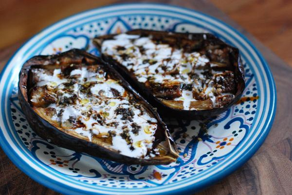 eggplant with pomegranate and yogurt 2