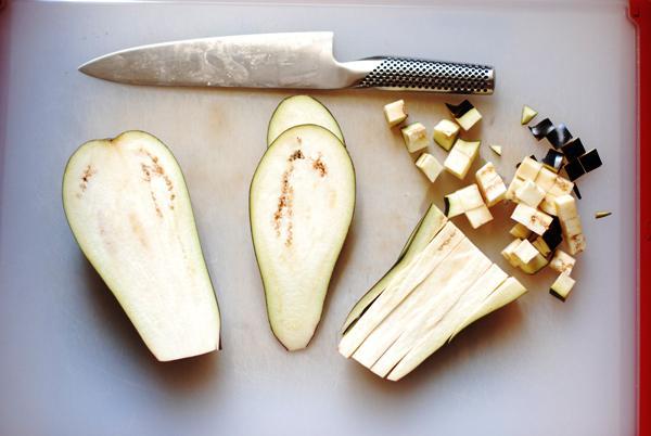 eggplant chopped