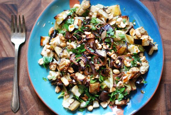 vietnamese leek and eggplant salad 2