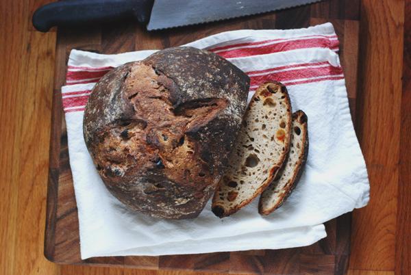 cocoa rye raisin bread