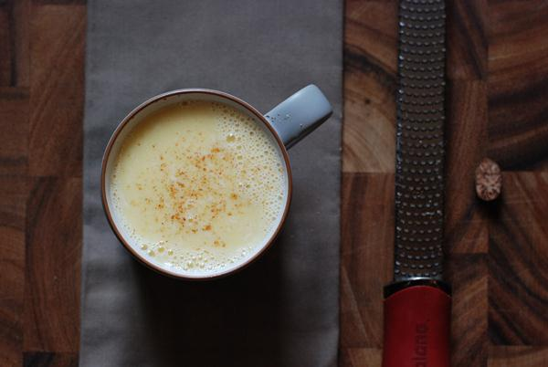 white hot chocolate with nutmeg