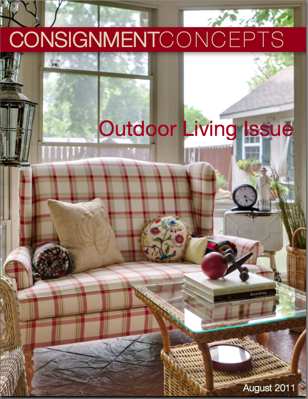 Design blog designer consignment for Outdoor living concepts